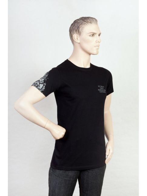 T-shirt z nadrukiem wizerunku Madonny della Creta na rękawie