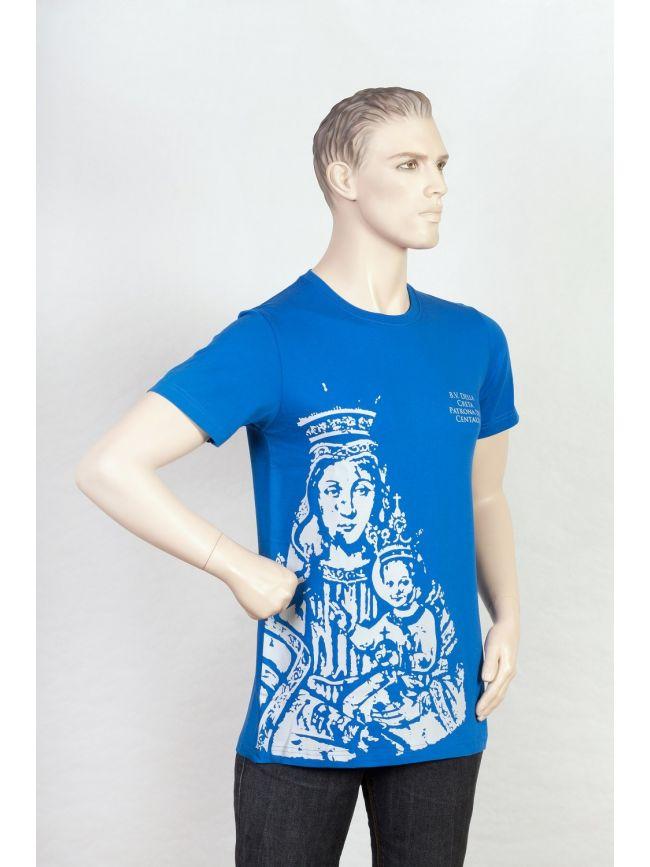 Camiseta con la imagen de Nuestra Señora de Creta estampado delante