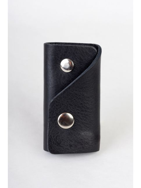 Key case with a keychain , made of genuine leather