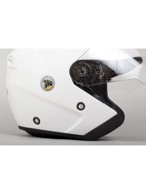 Aufkleber 2 Stk. Silber Motorrad & Madonna - 30mm
