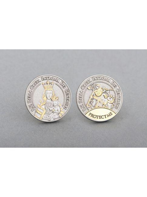 Medaille teilvergoldet