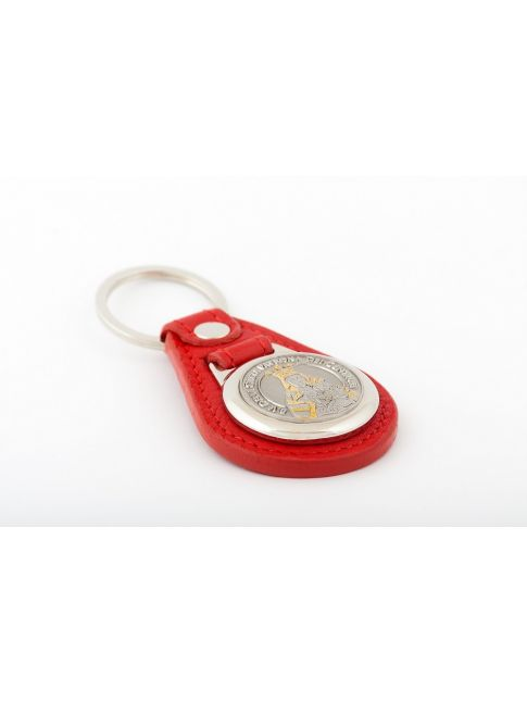 Medal key chain with best Italian leather