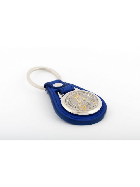 Schlüsselanhänger mit Medaille mit besten italienischen Leder