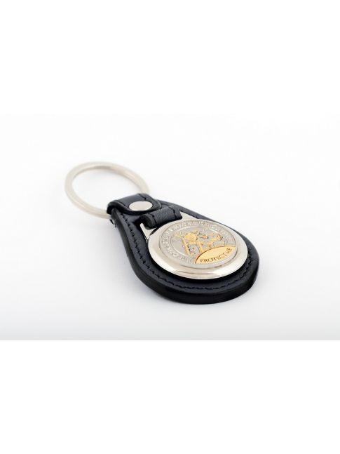Médaille porte-clés dans le meilleur cuir italien