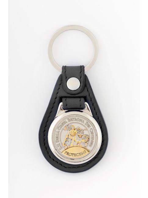 Brelok do kluczy z medalem z motorem