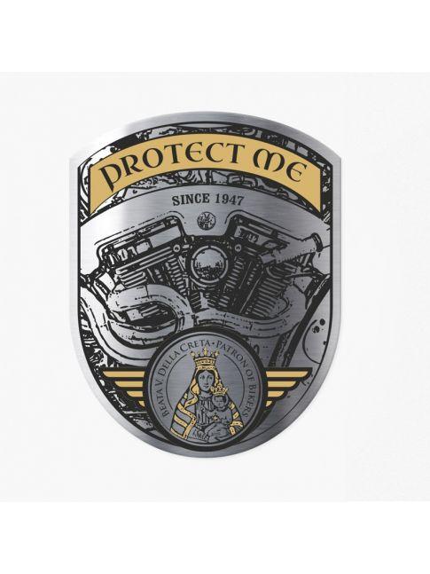 Pegatina protect me motor V brillo