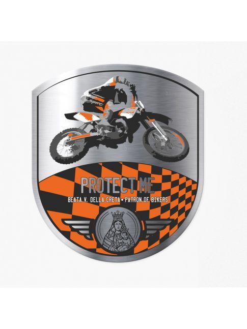 Pegatina motocross negra/naranja
