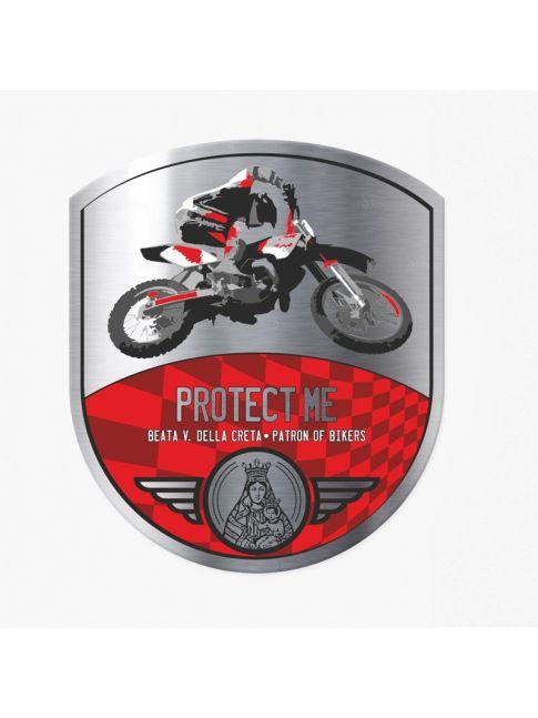 Naklejka Cross Bike czerwono / czerwona
