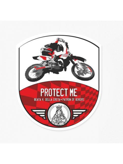 Adesivo motocross rosso/rosso