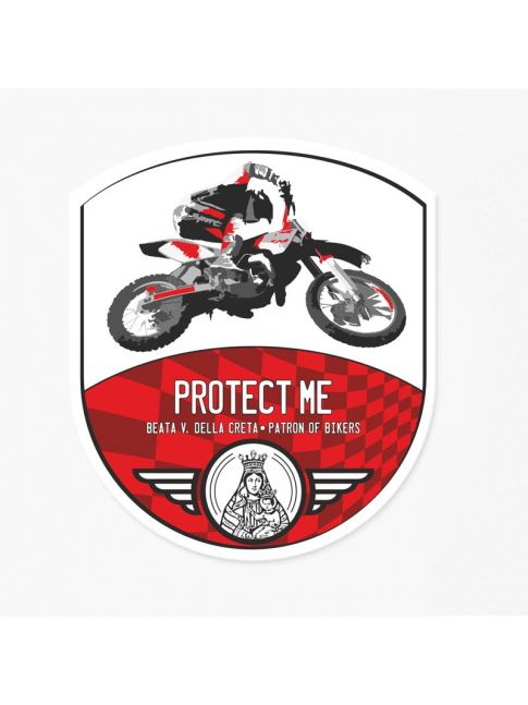 Sticker cross bike red/red