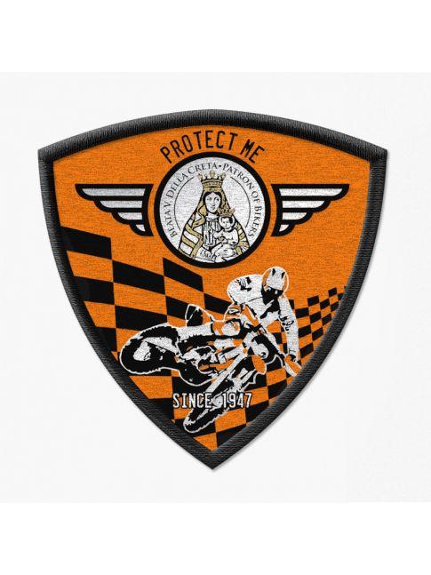 Patch triangolare motocross nero/arancione