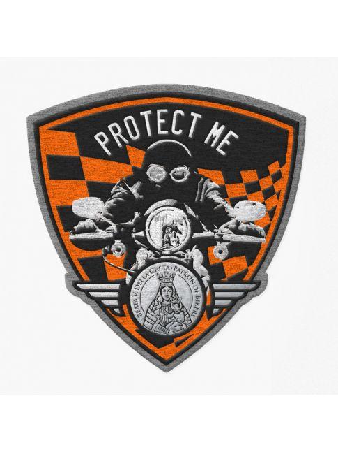 Patch triangolare motociclista nero/arancione