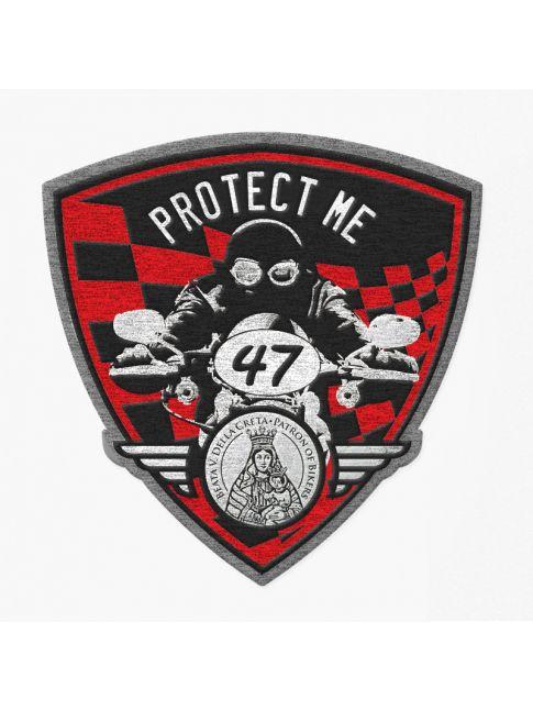 Patch triangolare motociclista nero/rosso